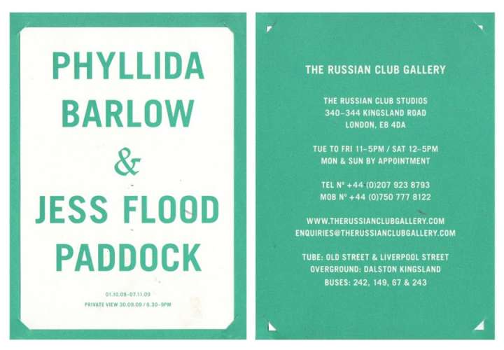 Phyllida Barlow & Jess Flood-Paddock Invite