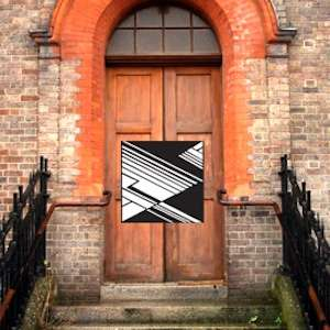 The Old Police Station front door and logo, temporarycontemporary